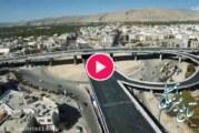 آخرین مراحل ساخت پل طبقاتی معلم شیراز