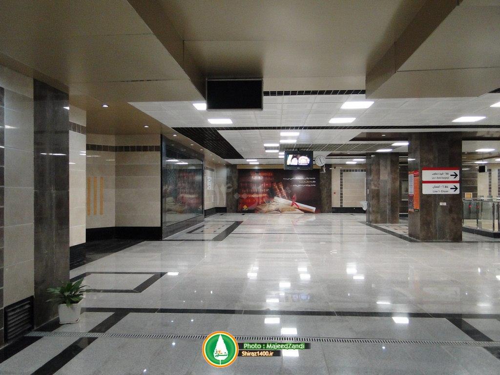 گزارش تصویری : ایستگاه مترو ولیعصر شیراز