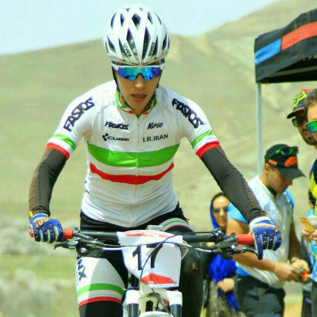 بانوی دوچرخه سوار شیرازی در رده نخست آسیا ایستاد