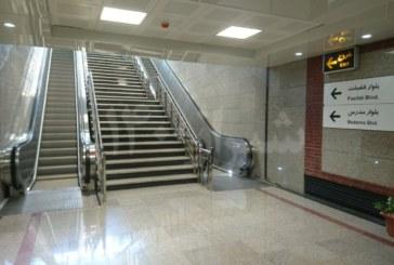 گزارش تصویری:نصب پله برقی ایستگاه مترو فضیلت