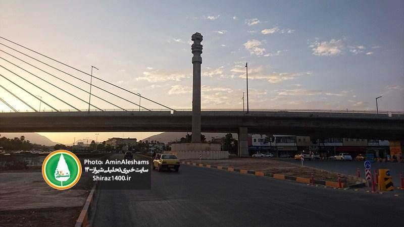 وضعیت بسیار نامناسب ساماندهی محیط پل کابلی شیراز