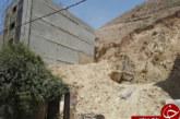 ریزش کوه در بلوار جمهوری شیراز