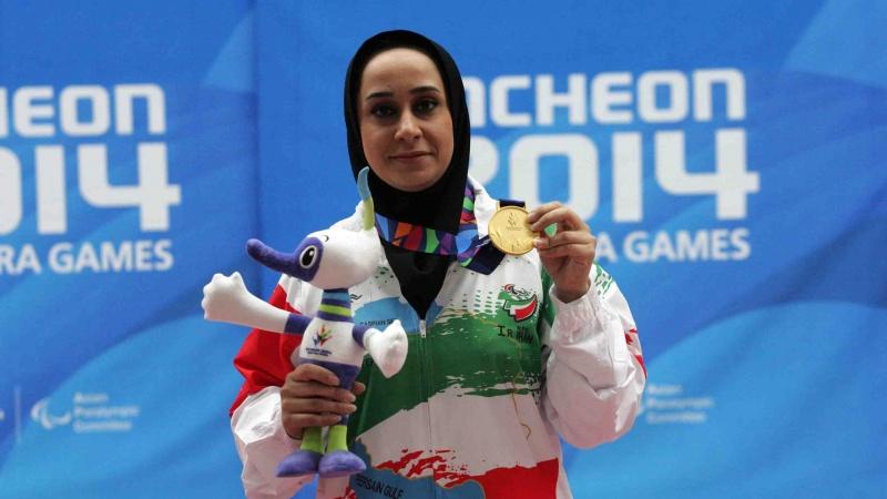 ساره جوانمردی پرچمدار ایران در بازی های پارا آسیایی