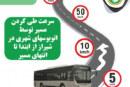 نمودار سرعت حرکتی اتوبوسهای شهری شیراز
