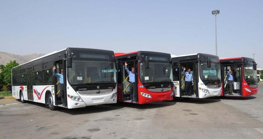 ورود ۴۰ دستگاه اتوبوس جدید شهری به شهری