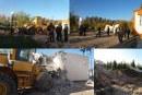 تخریب ساخت و سازهای غیرمجاز در حریم تخت جمشید