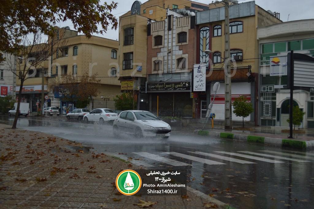 فعالیت سامانه بارشی در استان فارس