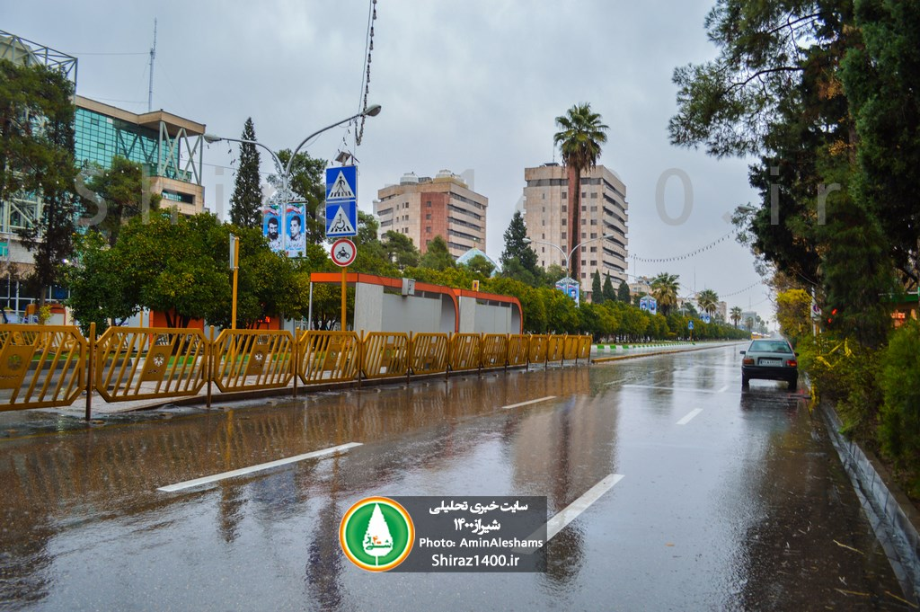 میزان بارندگی شیراز و شهرستانهای فارس اعلام شد