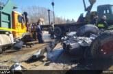 یک کشته در تصادف خان زنیان + عکس و ویدئو