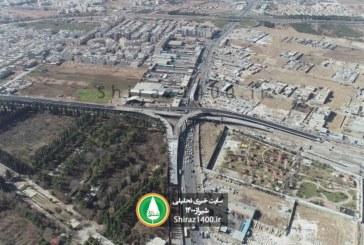 تصاویر هوایی از تقاطع طبقاتی گلشن