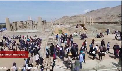 ویدئو : برگزاری همایش فرهنگ کهن ایران زمین در تخت جمشید