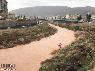 عکس : تمرین و مانور سیلاب در رودخانه خشک شیراز