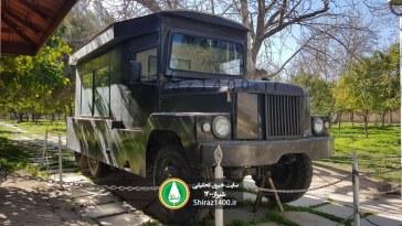 عکس : خودروی نعش کش رضاخان در باغ عفیف آباد