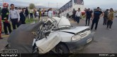 گزارش تصویری : تصادف مینی بوس دانش آموزان در فسا