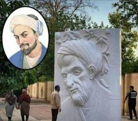 المان عجیب سعدی در کنار باغ دلگشا!