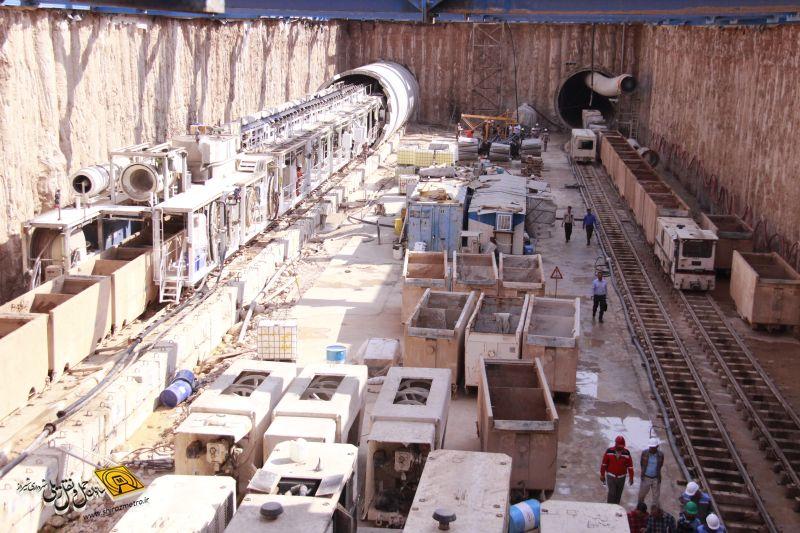 ثبت رکورد تازه در حفاری تونل های خط ٢ مترو شیراز