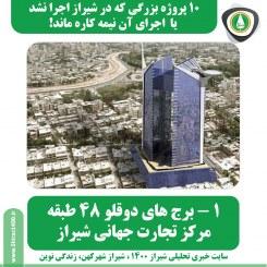 ۱۰ پروژه بزرگ شیراز که اجرا نشد یا اجرای آن نیمه کاره ماند!