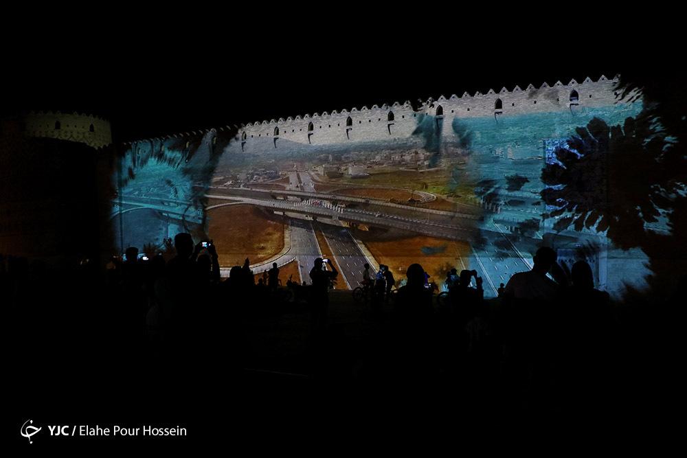 اجرای نورپردازی سه بعدی برروی ارگ کریمخان شیراز