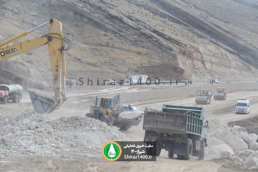 گزارش تصویری : فاز نهایی پروژه اتوبان کوهسار شیراز