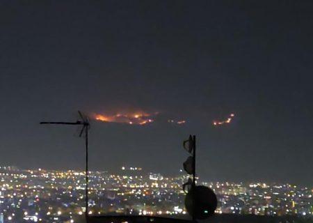 آتش سوزی در ارتفاعات شاپورجان