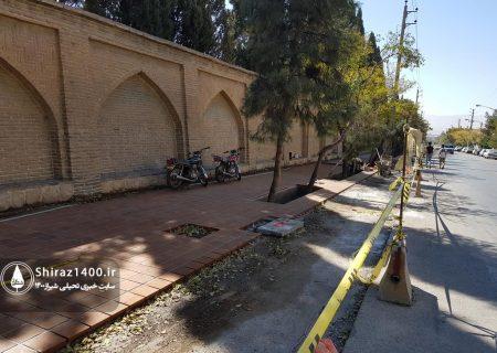 عکس: پیاده رو سازی محور حافظ / آبان ۹۹