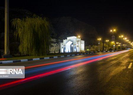 عکس: خیابانهای خلوت شیراز در نخستین شب محدودیت تردد کرونایی