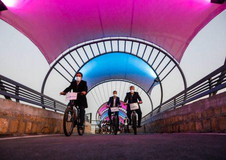 عکس: افتتاح نخستین پیست دوچرخه سواری در منطقه یازده شیراز