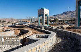 عکس: پیشرفت المان ورودی شمالی شیراز پس از ۷ سال