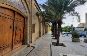 عکس: مراحل پایانی پیاده رو سازی محور حافظ / اردیبهشت ۱۴۰۰