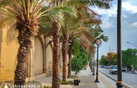 عکس: بهسازی پیاده رو خیابان حافظ